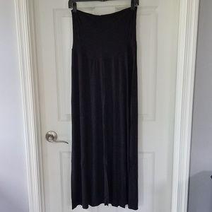 Motherhood maternity maxi skirt, black, medium